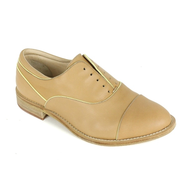 82ef38a7e7b Shop Brunello Cucinelli Womens Light Brown Yellow Leather Loafers ...
