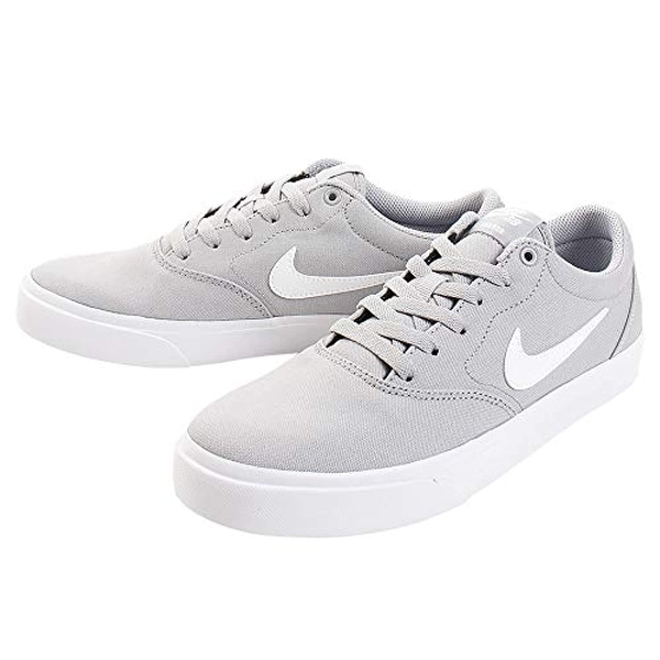 Nike SB Charge Solarsoft Canvas Wolf Grey/White 8.5 D (M)
