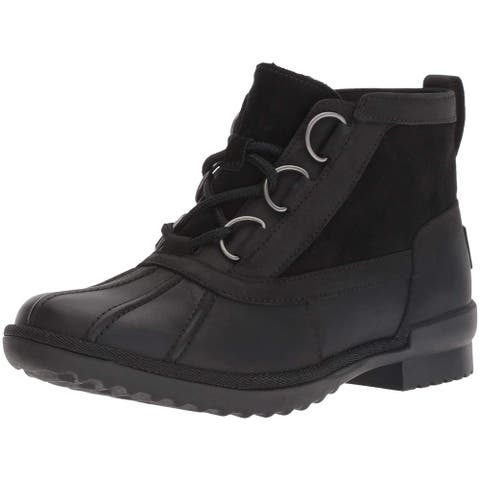 Ugg Womens Heather boot Leather Closed Toe Ankle Cold Weather Boots
