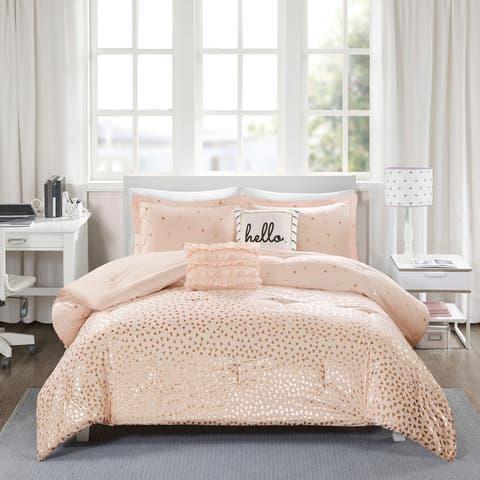 Liv Metallic Triangle Print Comforter Set by Intelligent Design