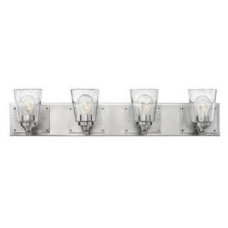 "Hinkley Lighting 51824 Jackson 4 Light 32-3/4"" Wide Bathroom Vanity Light with Seedy Glass"