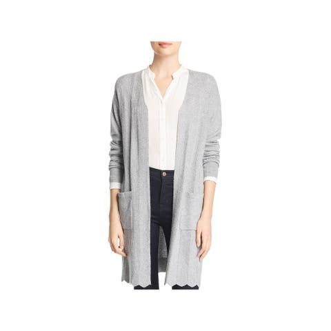 Avec Womens Cardigan Sweater Pointelle Open Front - Taupe
