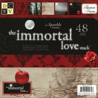 "Dcwv Paper Stack 12""X12"" 48/Pkg-Immortal Love, 24 Designs/2 Each"