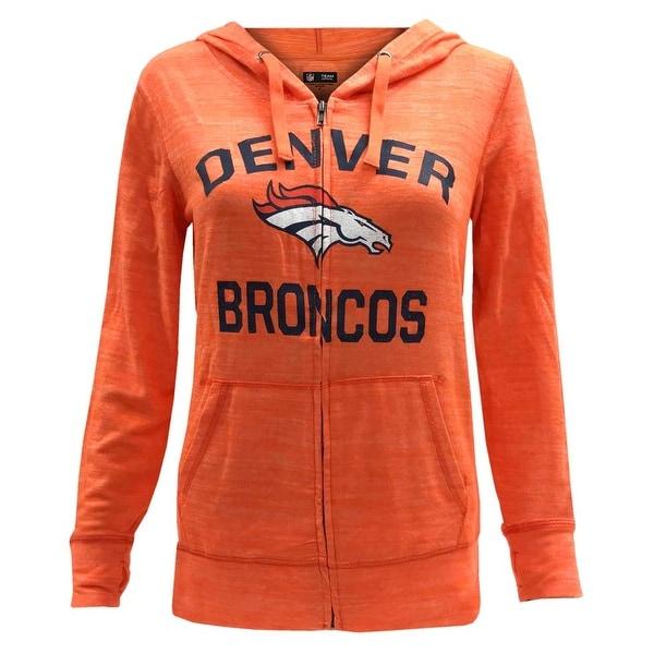 discount 2b61b f9a70 New Era Women's NFL Denver Broncos Football Zip Soft Hoodie Hoody Pockets