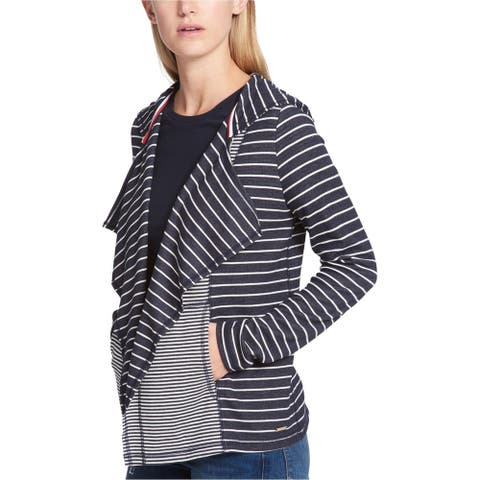 Tommy Hilfiger Womens Hooded Cardigan Sweater