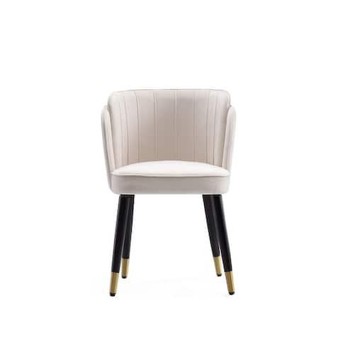 Ceets Chic Mid-Century Modern Vintage Style Velvet & Wood Zephyr Dining Chair