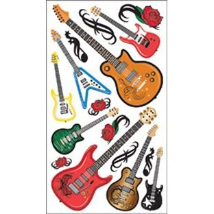 Guitar Rock - Sticko Classic Stickers