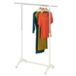 Modern Adjustable Width/Height Rolling Garment Rack,