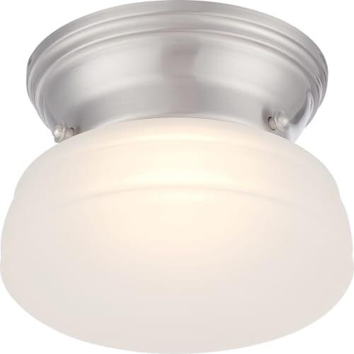 "Nuvo Lighting 62/612 Bogie Single Light 6"" Wide Integrated LED Flush Mount Ceiling Fixture"