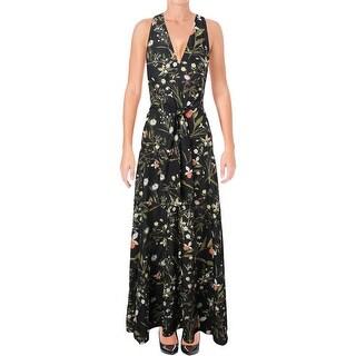 Rachel Rachel Roy Womens Casual Dress Floral Print Tie-Waist