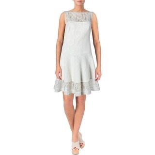 Tadashi Shoji Womens Lace A-Line Cocktail Dress
