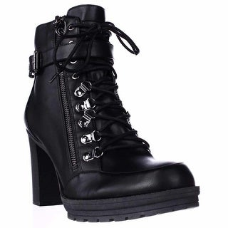G by Guess Womens Grazzy Round Toe Mid-Calf Combat Boots