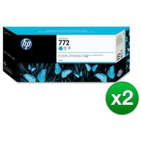 HP 772 High Yield Cyan Original Ink Cartridge (CN636A)(2-Pack)