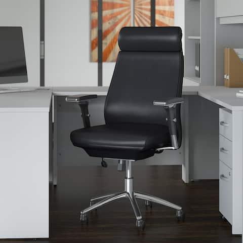 Bush Business Metropolis High Back Leather Executive Office Chair