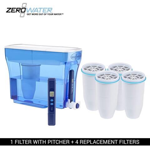ZERO Water 23 Cup Pitcher Bundle-4 Pack Ion Exchange Water Dispenser