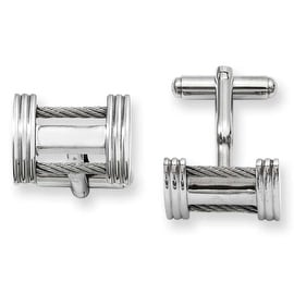 Stainless Steel Wire Cuff Links