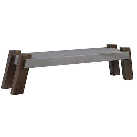 Uttermost Lavin Grey Industrial Concrete Bench