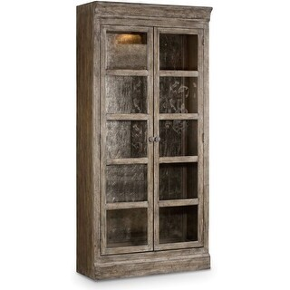 """Hooker Furniture 5701-75902  40"""" Wide Solid Hardwood Display Cabinet from the True Vintage Collection"""