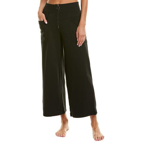 Betsey Johnson Zip Front High-Waisted Crop
