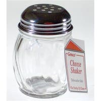 Lifetime Brands 5078568 Glass with Stainless Steel Lid Cheese Shaker