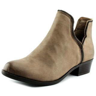 BCBGeneration Crushh Women Round Toe Leather Tan Bootie