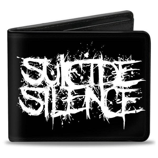 Suicide Silence Splatter Black White Bi Fold Wallet - One Size Fits most