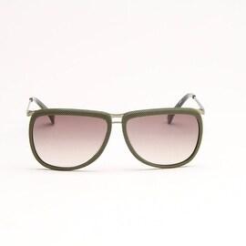 Olive Green Metal Sunglasses