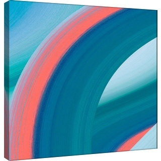 """PTM Images 9-100936  PTM Canvas Collection 12"""" x 12"""" - """"Ocean A"""" Giclee Abstract Art Print on Canvas"""
