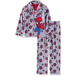 Marvel Boys 2T-4T Spiderman Coat Pajama Set - Grey