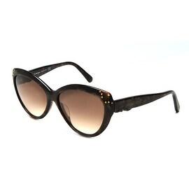 John Galliano Women's Cat Eye Sunglasses Tortoise - Brown - Small