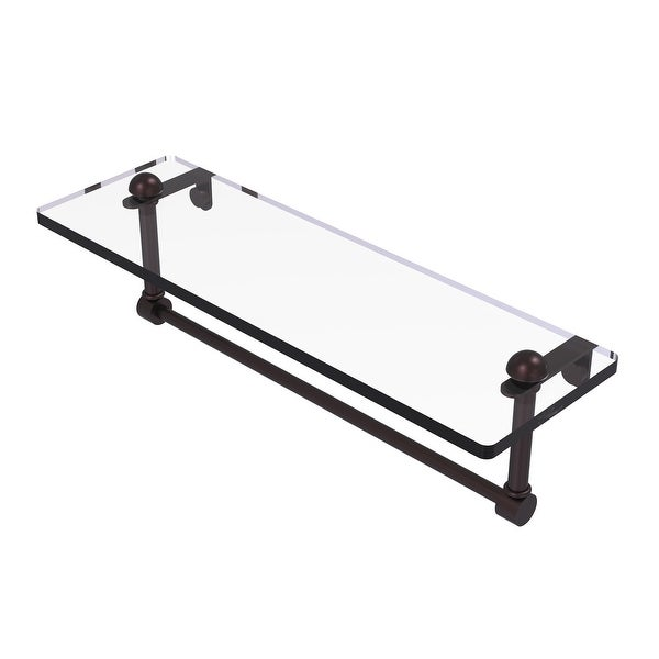 Allied Brass Glass Vanity Shelf with Integrated Towel Bar. Opens flyout.
