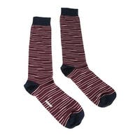 Missoni GM00CMU5231 0003 Maroon/Navy Knee Length Socks - M