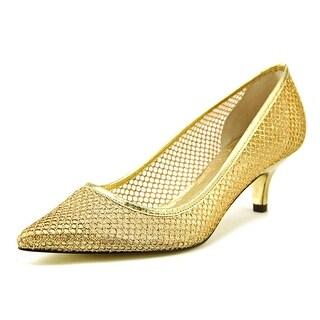 Adrianna Papell Lois Women Gold Pumps
