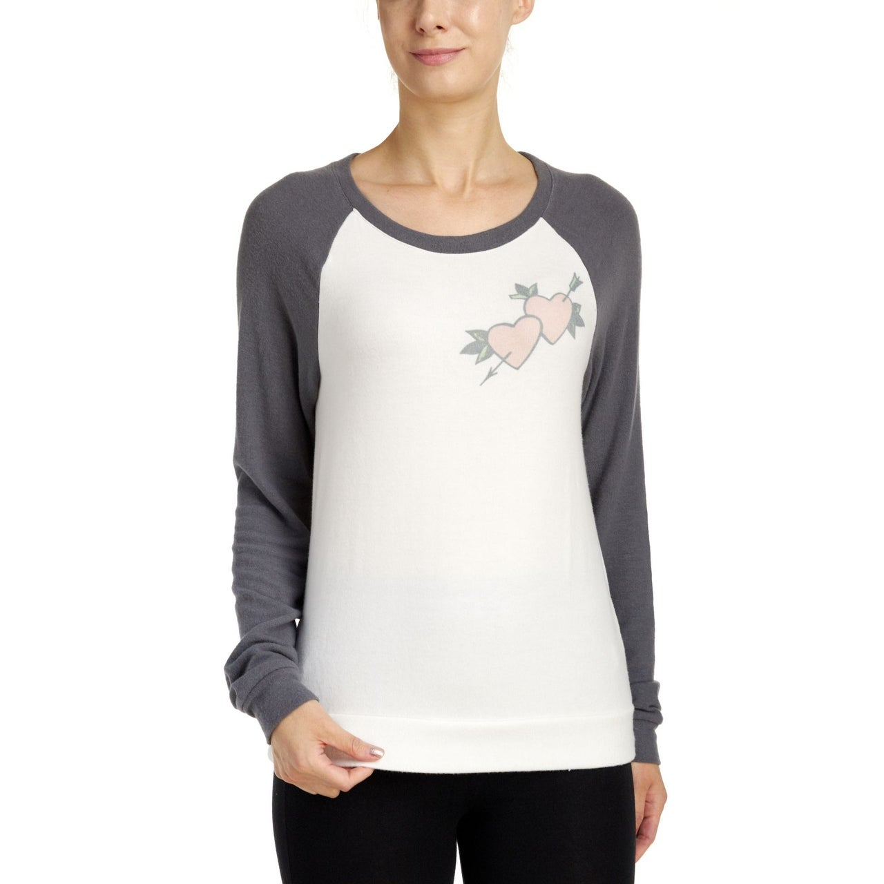 PJ Salvage Womens Womens Long Sleeve Top Pajama Top