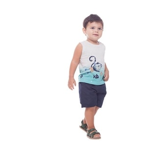 Baby Boy Tank Top Graphic Muscle Shirt Summer Sleeveless Pulla Bulla 3-12 Months