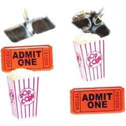 Popcorn Ticket - Eyelet Outlet Shape Brads 12/Pkg