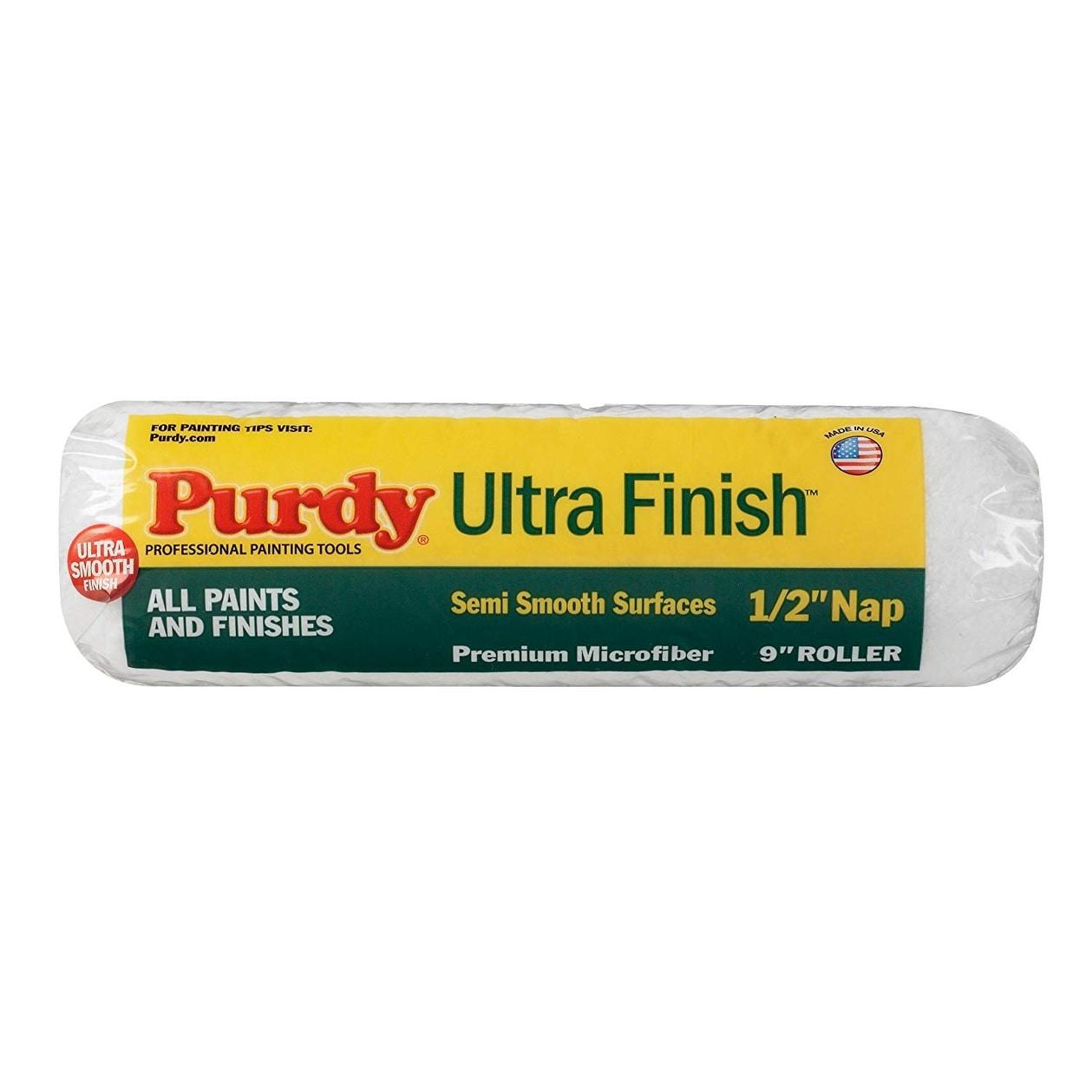 Purdy 140678093 Ultra Finish Polypropylene Roller Cover, 9, 1/2 Nap, 1-1/2
