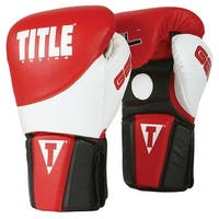Title Boxing Gel Tri-Brid Training Gloves - Red/Black/White
