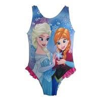 Disney Baby Girls Blue Frozen Elsa Anna One Piece UPF 50+ Swimsuit