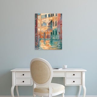 Easy Art Prints Ethan Harper's 'Sunset on the Canal II' Premium Canvas Art