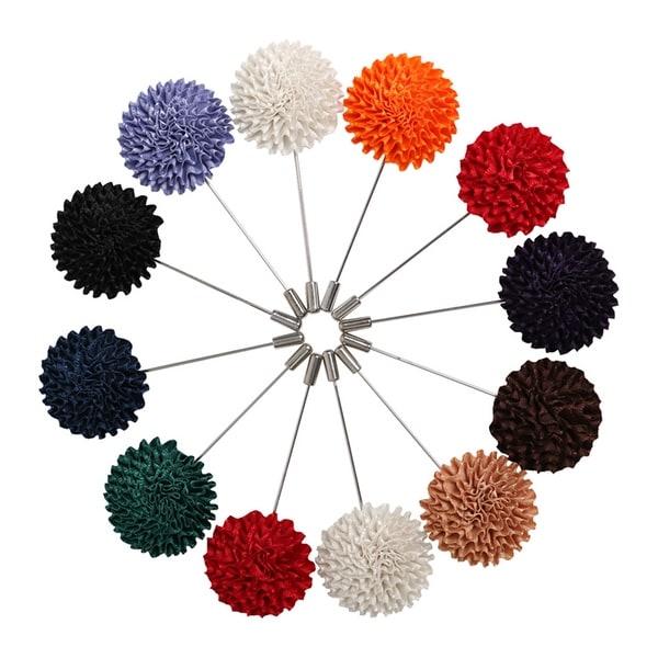 Men's Marigold Flower Lapel Pin Boutonniere For Suit