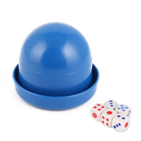 Party Casino Games Plastic Cylindrical Hand Shaker Cup Entertainment Dice Blue