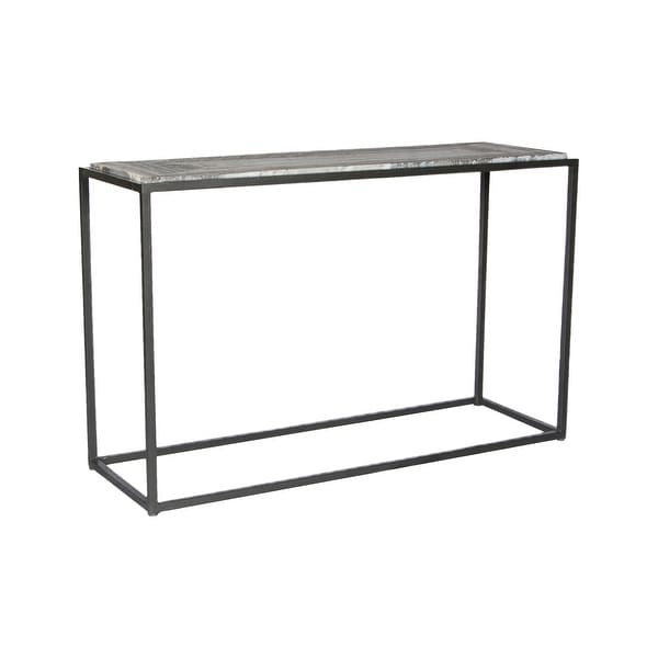 Aurelle Home Willow Marble Contemporary Console Table - 48 x 16 x 30 - 48 x 16 x 30. Opens flyout.