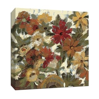 """PTM Images 9-153211  PTM Canvas Collection 12"""" x 12"""" - """"Expressive Garden II Ivory"""" Giclee Flowers Art Print on Canvas"""