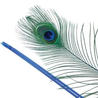 """Peacock Eye 30""""-40"""" Stem Dyed 10/Pkg-Dark Turquoise"""