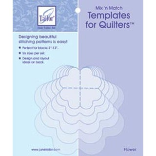 Flower - Mix'n Match Templates For Quilters 6/Pkg