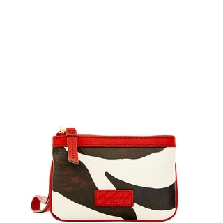Dooney & Bourke Zebra Medium Wristlet (Introduced by Dooney & Bourke at $68 in Feb 2016) - Red