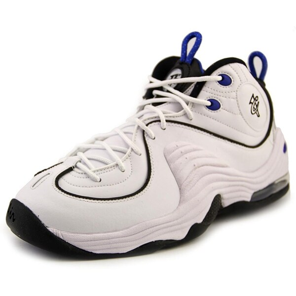 Nike Air Penny II Men  Round Toe Synthetic White Basketball Shoe