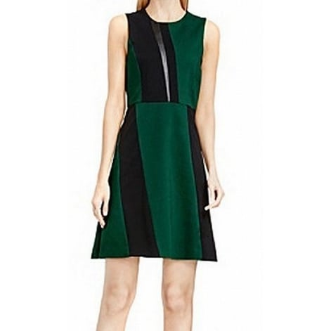 99c1eb43b9c Shop Vince Camuto NEW Green Black Womens Size 10 Faux-Leather Sheath Dress  - Free Shipping Today - Overstock - 20517318