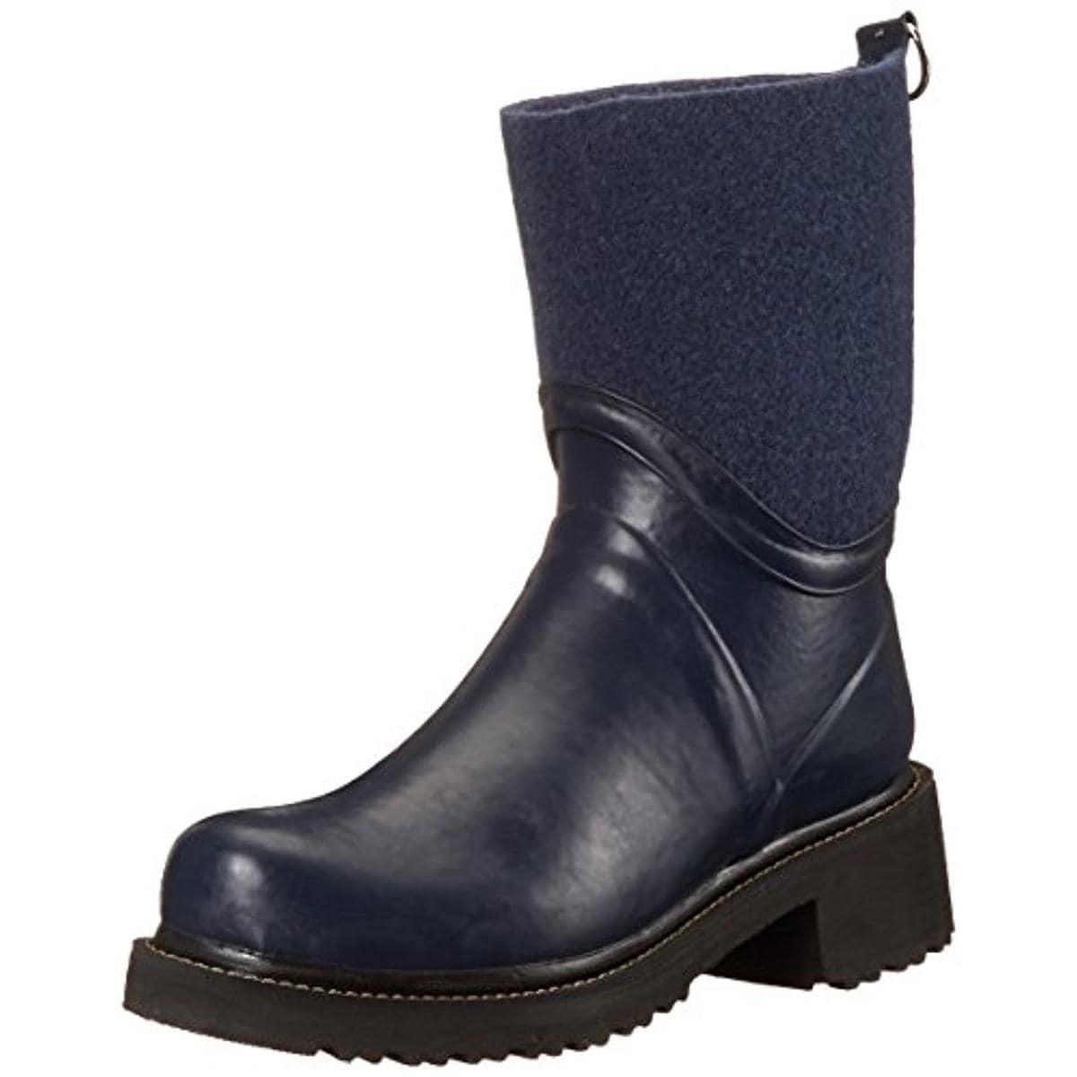 Ilse Jacobsen Womens Rub 53 Rain Boots Rubber Felt - Thumbnail 0